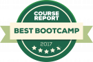 course report best bootcamp 2017 badge