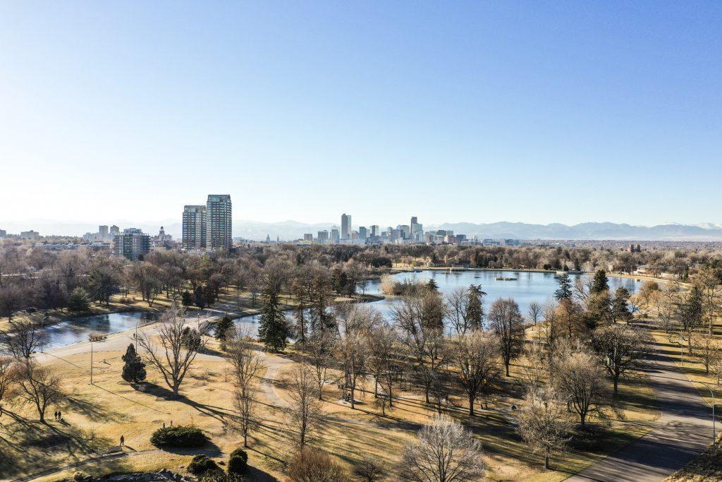 landscape shot of downtown Denver skyline