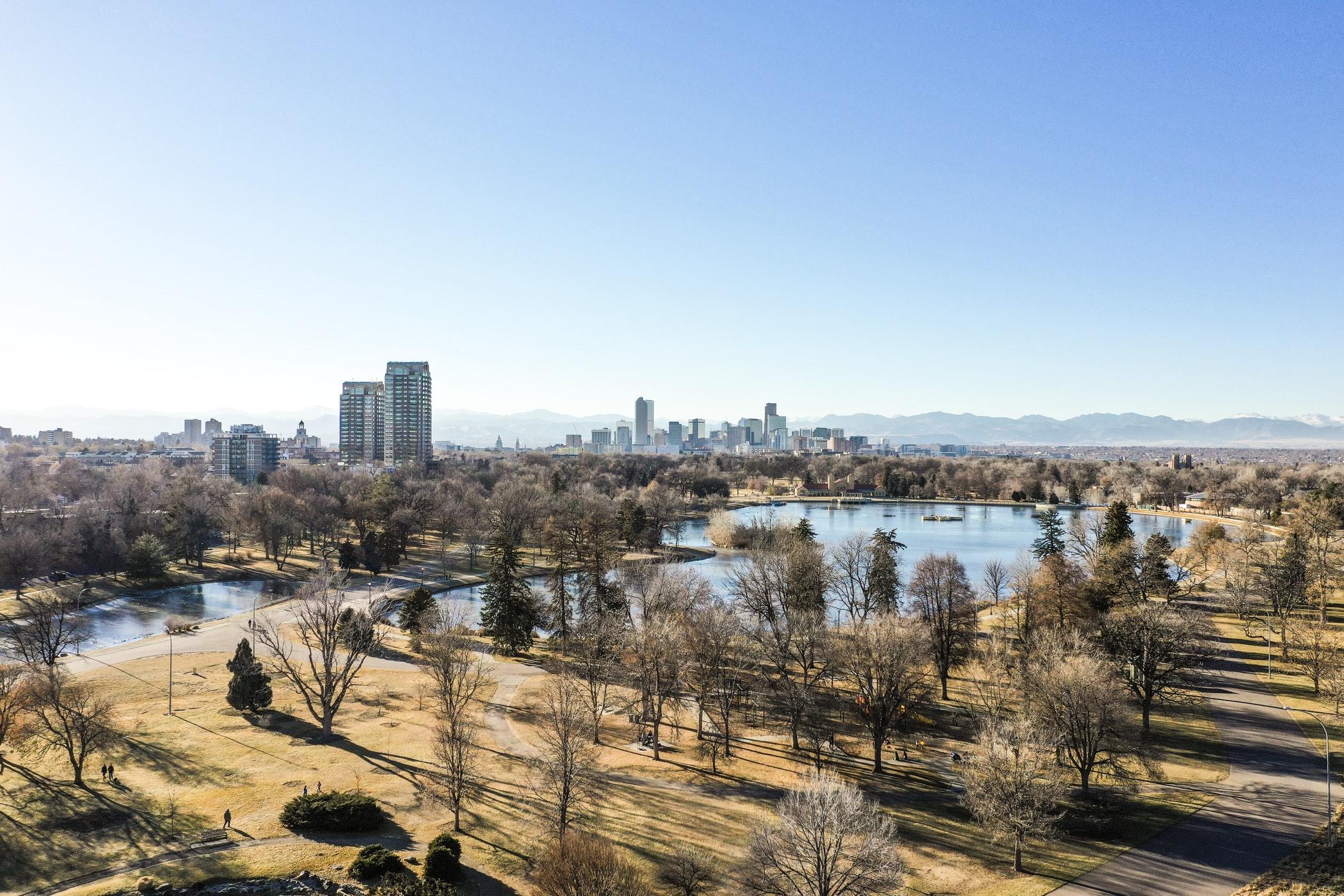 downtown Denver skyline landscape