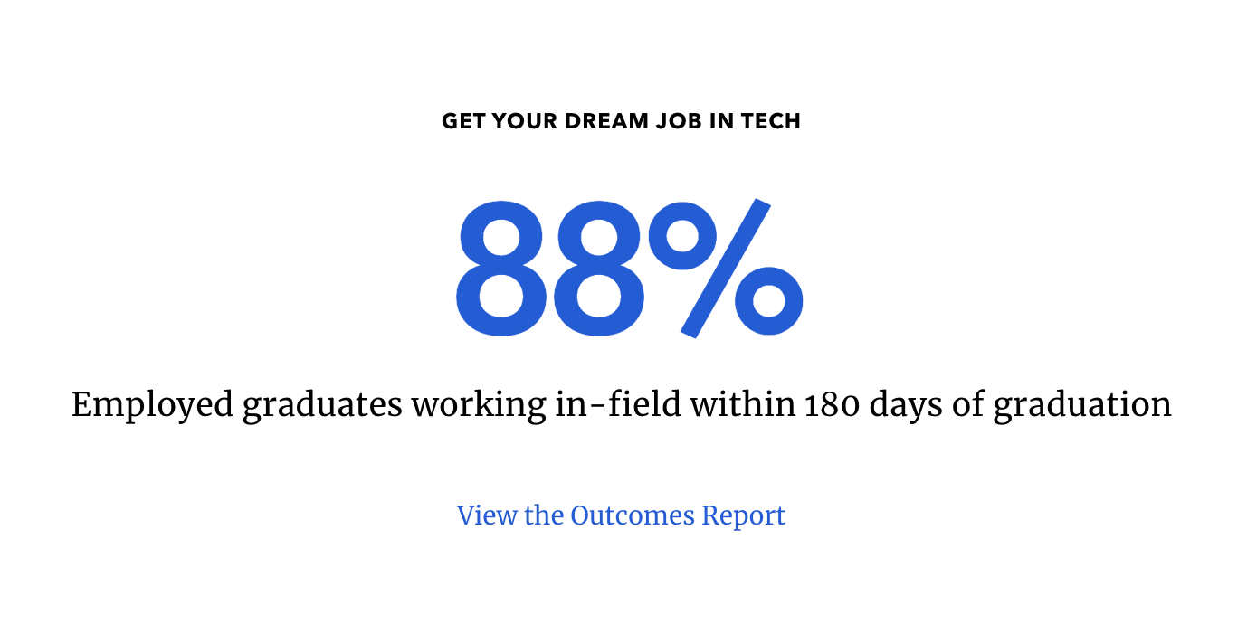 percentage of graduates with jobs from bootcamps